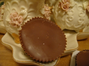 It may look like a Reese Cup but it holds something far tastier than peanut butter.